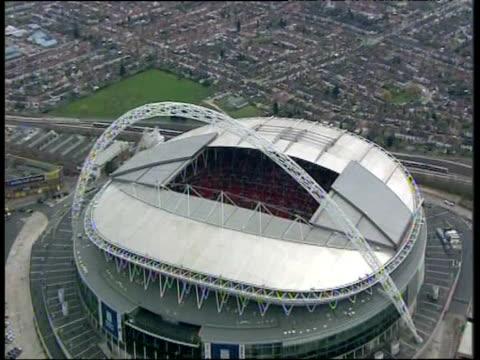 Zoom in towards Wembley Stadium London