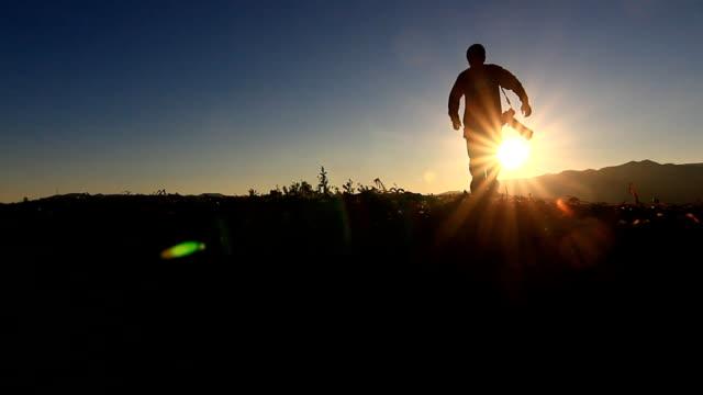Heranzoomen: Kamera, Fotograf, silhouette