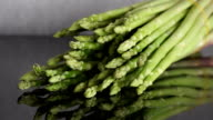 Zoom out Bunch of Asparagus (Asparagus officinalis) Spring Vegetables
