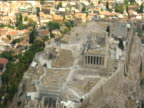 Zoom out from the Acropolis to Athens city