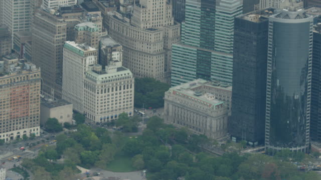 Zooming out shot of the Battery Park