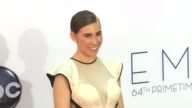 Zosia Mamet at 64th Primetime Emmy Awards Arrivals on 9/23/12 in Los Angeles CA