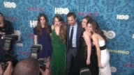 Zosia Mamet Jemima Kirke producer Lena Dunham and Allison Williams at New York Premiere of HBO's 'Girls' at School of Visual Arts Theater on April 04...