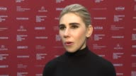 INTERVIEW Zosia Mamet on supporting the film and her dog at 'Weiner Dog' Screening 2016 Sundance Film Festival at Eccles Center Theatre on January 22...