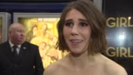 INTERVIEW Zosia Mamet on the appeal of the show working with Lena Dunham and Richard E Grant at Girls' UK premiere at Cineworld Haymarket on January...