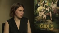 Zosia Mamet talks about her character Shoshanna Shapiro in 'Girls' Series 3 at 'Girls' Interviews at on January 16 2014 in London England