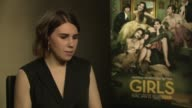 Zosia Mamet talks about the growth of huge TV shows at 'Girls' Interviews at on January 16 2014 in London England
