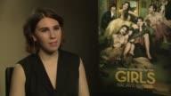 Zosia Mamet talks about working with her boyfriend Evan Jonigkeit in 'Girls' Series 3 at 'Girls' Interviews at on January 16 2014 in London England