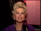 Zsa Zsa Gabor talks about her diamonds and being married to her lawyer for four years and why it's working Zsa Zsa Gabor interview on January 01 1981...