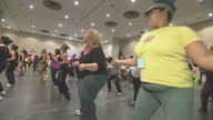 Zumba Class With Dance Instructor on October 22 2013 in New York New York