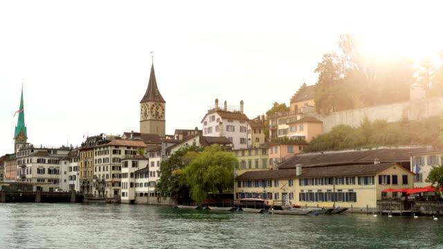 Zurich Skyline with River Limmat