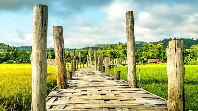 Zutongpae Bridge, Mae Hong Son, Thailand.