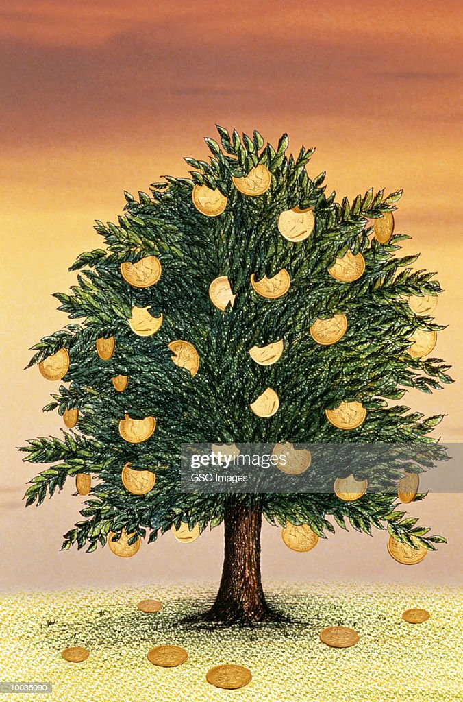 MONEY GROWS ON TREES Stock Illustration