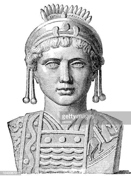 justinian the great (483-565) - justinian i stock illustrations