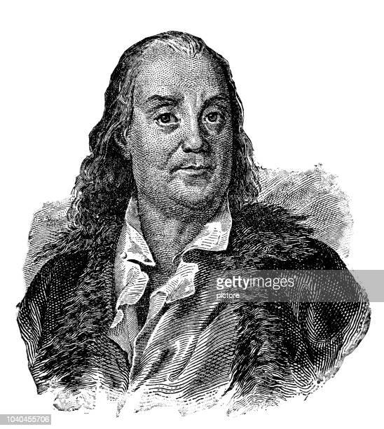 benjamin franklin (1706-1790) - benjamin franklin stock illustrations, clip art, cartoons, & icons