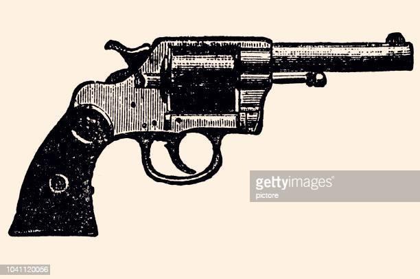 ilustrações de stock, clip art, desenhos animados e ícones de navy revolver - armadefogo