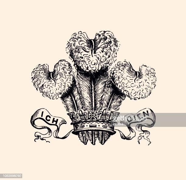illustrations, cliparts, dessins animés et icônes de ich dien (xxxl) - cérémonie du ruban