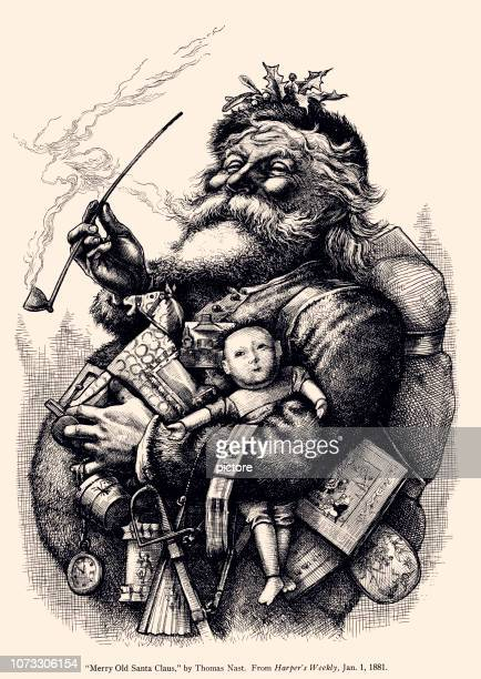 santa claus (xxxl) - antique stock illustrations