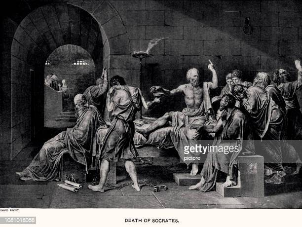 stockillustraties, clipart, cartoons en iconen met socrates (xxxl) - classical greek style