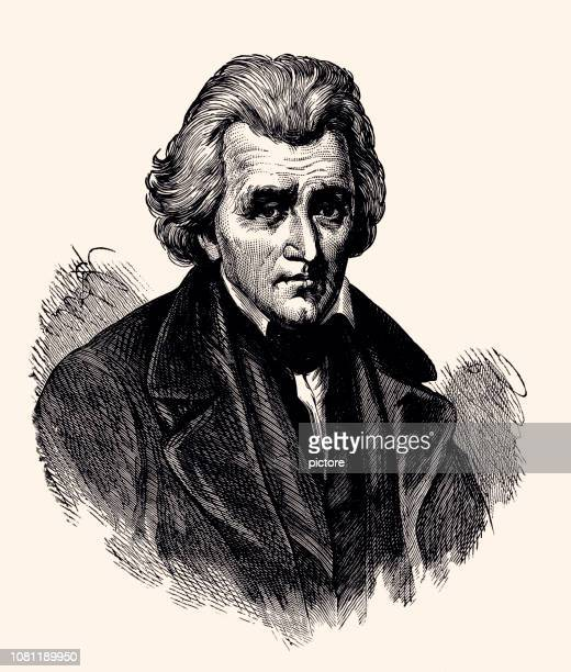 andrew jackson - governor stock illustrations, clip art, cartoons, & icons