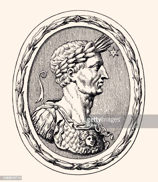 julius cesar - emperor stock illustrations, clip art, cartoons, & icons