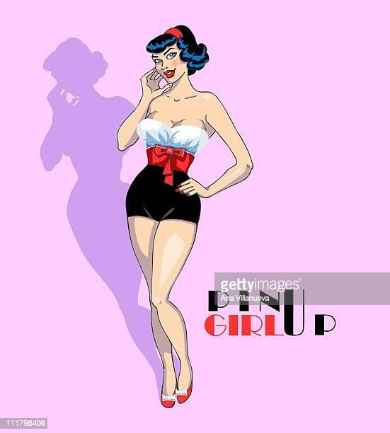 pin-up girl - comunidad autonoma de valencia stock illustrations