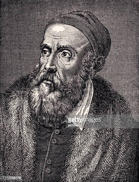 titian (1477- 1576) xxxl - tiziano vecellio stock illustrations, clip art, cartoons, & icons