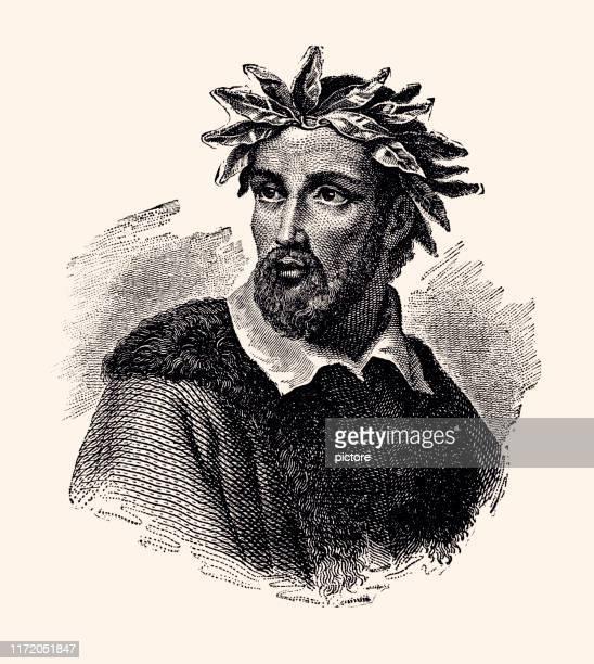 torquato rate (1544-1595) xxxl - poet stock illustrations