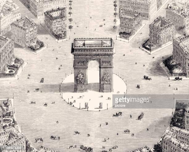 パリ:凱旋門 1857年(xxxl) - 1850~1859年点のイラスト素材/クリップアート素材/マンガ素材/アイコン素材