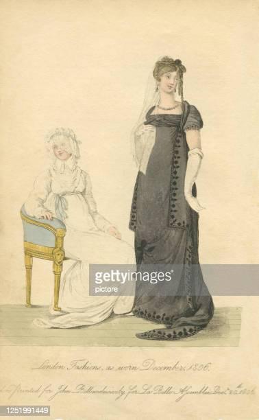 ロンドンファッション1806 (xxxl) - 1800~1809年点のイラスト素材/クリップアート素材/マンガ素材/アイコン素材