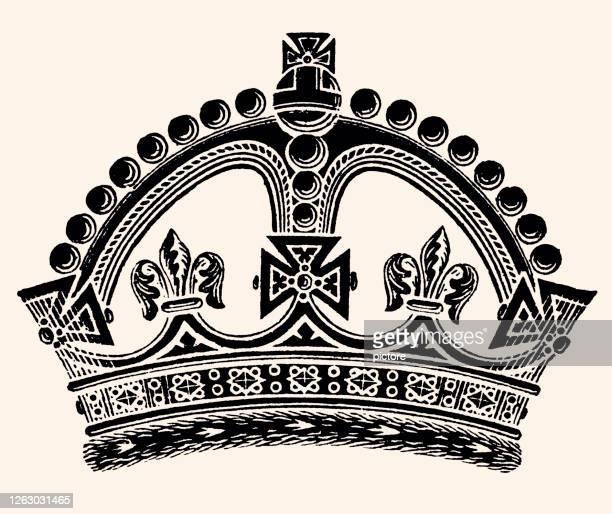 crown of queen victoria (xxxl) - crown stock illustrations