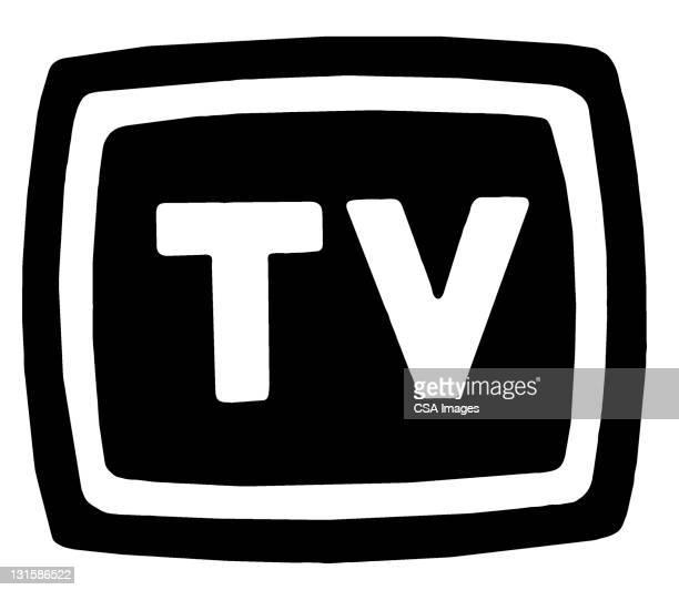 tv - logo stock illustrations