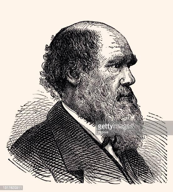 charles darwin 1809-1882 (xxxl mit vielen details) - darwin stock-grafiken, -clipart, -cartoons und -symbole