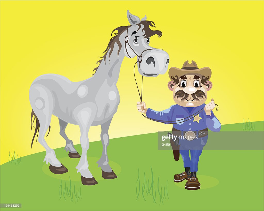 SHERIFF AND HORSE
