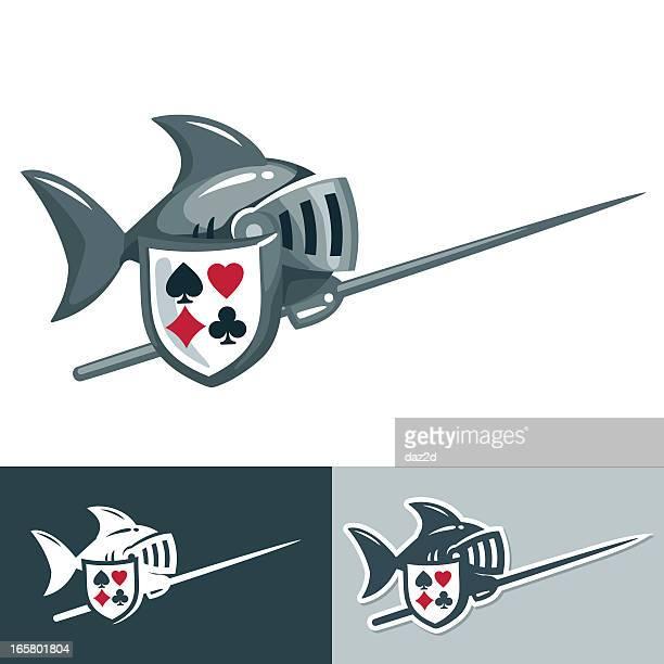 sharknight - cavalier cavalry stock illustrations, clip art, cartoons, & icons