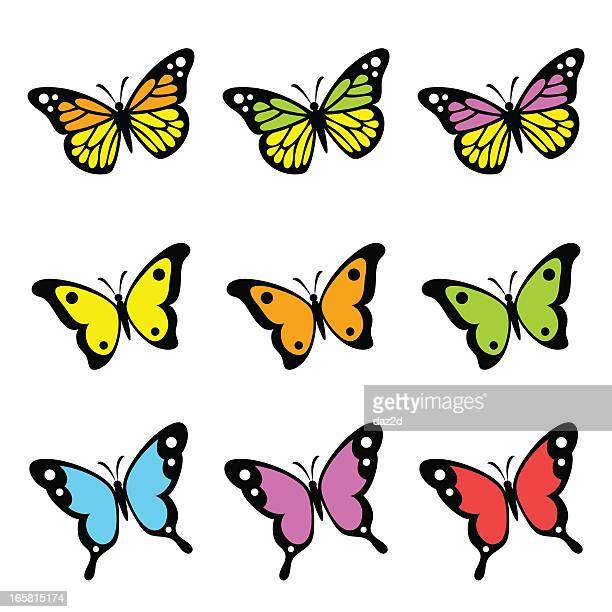 ilustrações, clipart, desenhos animados e ícones de borboletas - borboleta