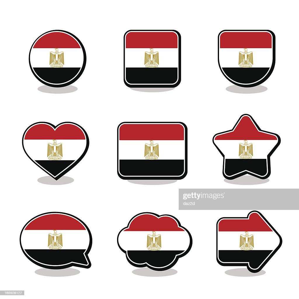 EGYPT FLAG ICON SET
