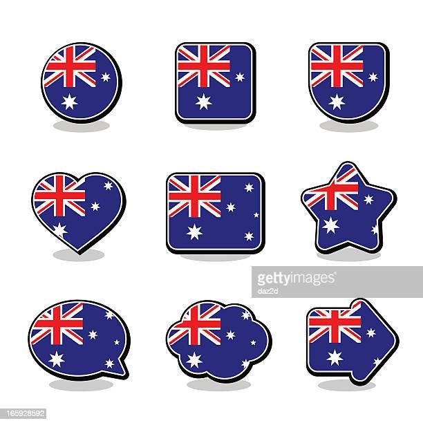 AUSTRALIA FLAG ICON SET