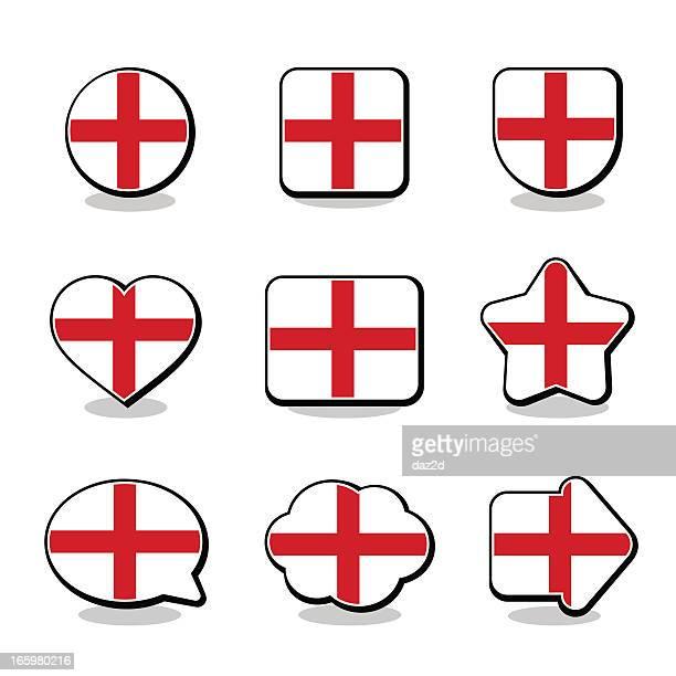 ENGLAND FLAG ICON SET