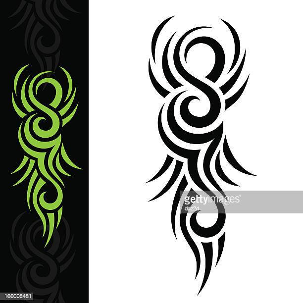 green tattoo - indigenous culture stock illustrations