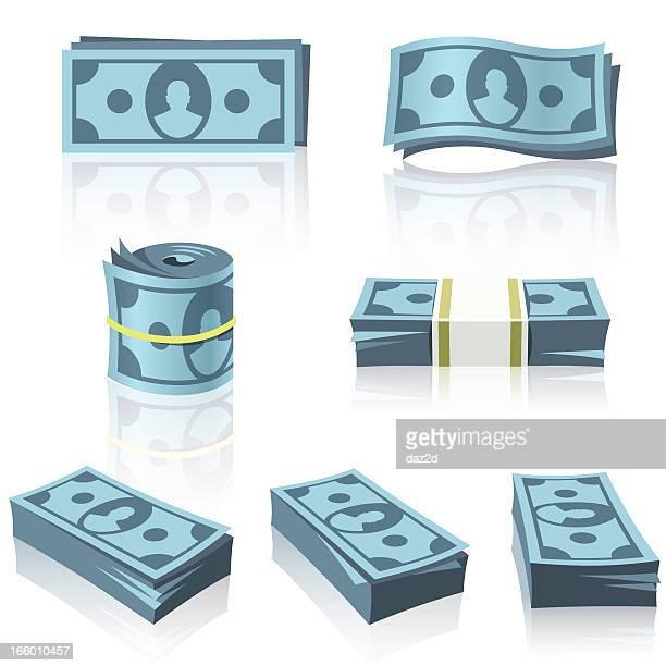 BLUE MONEY STACKS