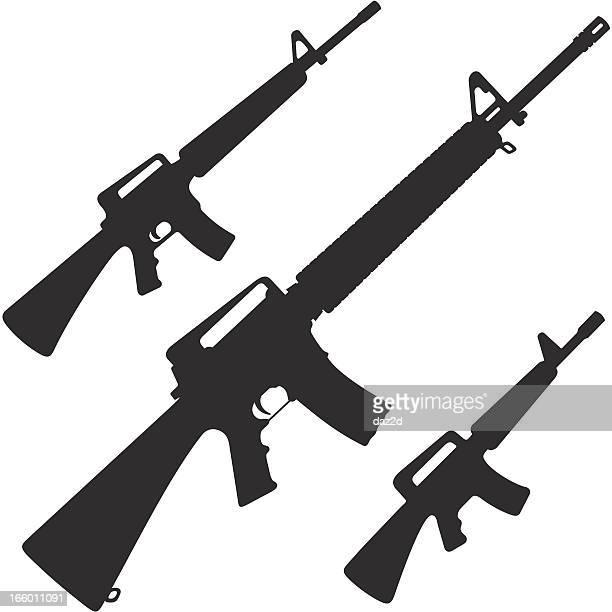 m16 - rifle stock illustrations