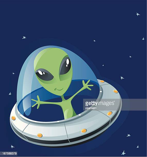 ufo - alien stock illustrations