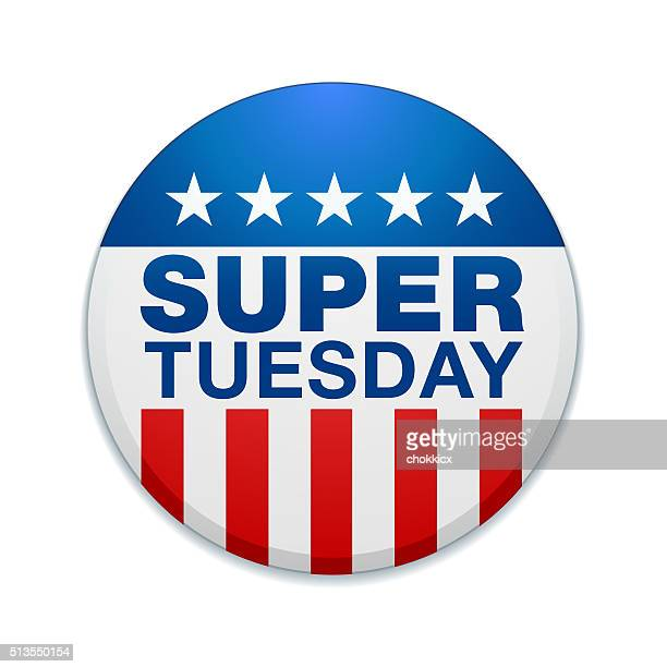 super tuesday badge - tuesday stock illustrations