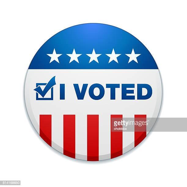 i voted - letter i stock illustrations