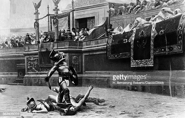 DRAWING OF ROMAN GLADIATOR...