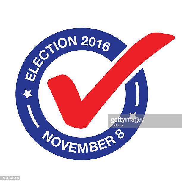 november 8 - election day - 2016 stock illustrations, clip art, cartoons, & icons