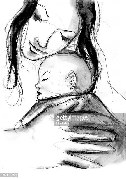 waa007000045 - baby stock illustrations