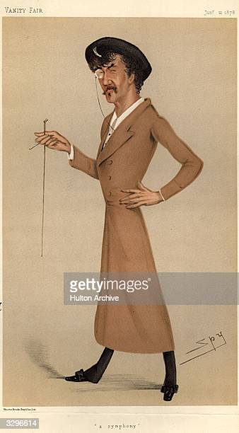 The artist James Abbott McNeill Whistler Caricature by Spy Vanity Fair Men Of The Day No 170 pub 1878