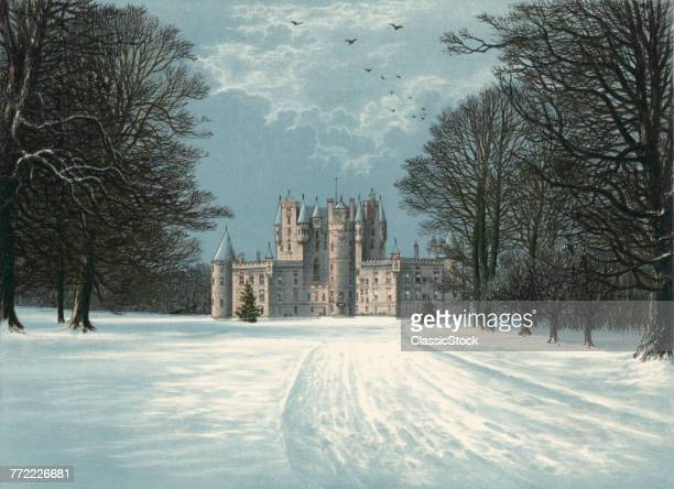 PAINTING OF GLAMIS CASTLE...